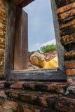 Antyczny Buddha nad 500 rok w Ayutthaya Obraz Royalty Free