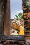 Antyczny Buddha nad 500 rok w Ayutthaya Obrazy Royalty Free