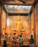 Antyczny Buddha przy Bangkung świątynią Obrazy Royalty Free