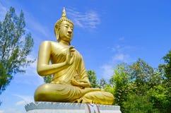 antyczny Buddha złoty wizerunku pagond th Fotografia Royalty Free