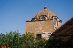 Antyczny budynek wśrodku Aragon kasztelu Fotografia Stock