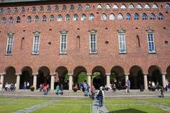 Antyczny budynek w Sztokholm używał jako urząd miasta Obrazy Royalty Free