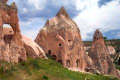 antyczny cappadocia cavetown goreme blisko indyka Widok falez mieszkania zdjęcie royalty free