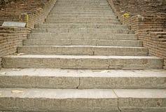 antyczny ceglany schody Obraz Royalty Free