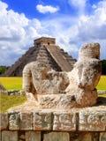antyczny chac chichen postać itza Mexico mool Zdjęcia Royalty Free