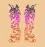 Antyczny chińczyka Phoenix wzór royalty ilustracja