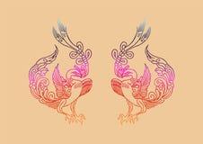 Antyczny chińczyka Phoenix wzór ilustracja wektor
