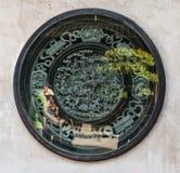 Antyczny Chińskiego obrazu wolumetryczny kamień obraz royalty free