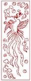 Antyczny chińczyka Phoenix wzór Fotografia Stock