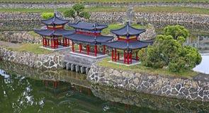 Antyczny chiński architektury miniatury krajobraz Obraz Stock