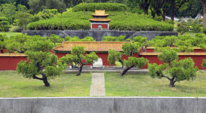 Antyczny chiński architektury miniatury krajobraz Zdjęcie Stock