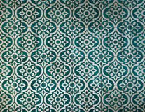 Antyczny ciemny zielonawego błękita płytki wzór fotografia stock