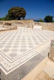 antyczny czerń podłoga mozaiki biel Obraz Royalty Free