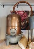 Antyczny destylator dla produkci pachnidło w Fragonard fac Fotografia Stock
