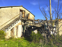 Antyczny dom na wsi Obrazy Royalty Free