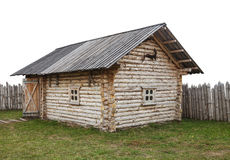 Antyczny drewniany dom Fotografia Royalty Free