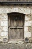 Antyczny drewniany drzwi Zdjęcia Royalty Free