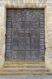 Antyczny drewniany drzwi Fotografia Royalty Free