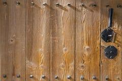 Antyczny drewniany drzwiowy koreańczyka styl, Seul, Południowy Korea, zbożowy drewno a Obraz Royalty Free