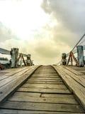 Antyczny drewniany most Obraz Royalty Free