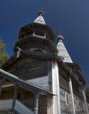 Antyczny drewniany ortodoksyjny kościół Zdjęcia Royalty Free