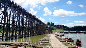 Antyczny drewno most Obraz Royalty Free