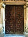 Antyczny drzwi, czas, historia i romantyczni szczeg??y, fotografia royalty free