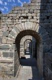 Antyczny drzwi przy Pergamum w Turcja Fotografia Royalty Free