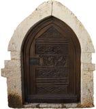 antyczny drzwiowy drewniany Fotografia Royalty Free