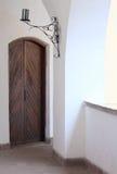 antyczny drzwiowy drewniany Zdjęcia Stock