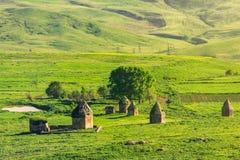 Antyczny dziejowy mauzoleumu kompleks xvi wiek Okręg Shemakhy miasto, Azerbejdżan obraz royalty free