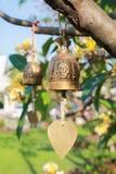Antyczny dzwon w ogródzie Obrazy Royalty Free