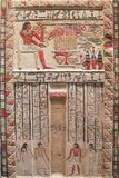 Antyczny egipcjanin grawerujący kamień zdjęcie stock