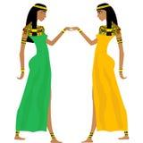 Antyczny Egipski kobiet tanczyć Zdjęcie Stock