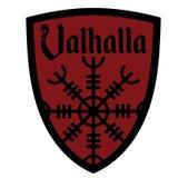 Antyczny Europejski ezoteryka znak - ster respekt, wpisowy Valhalla i Heraldyczna osłona, ilustracja wektor