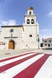 Antyczny farny kościół w Cardeñajimeno, Burgos Zdjęcie Royalty Free