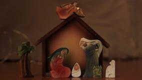 antyczny figurek narodzenia jezusa sceny set zbiory wideo
