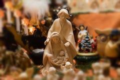 antyczny figurek narodzenia jezusa sceny set Obrazy Stock