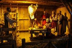 antyczny figurek narodzenia jezusa sceny set Fotografia Stock