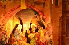 antyczny figurek narodzenia jezusa sceny set Zdjęcia Royalty Free