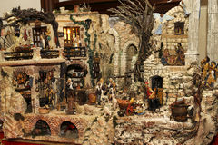 antyczny figurek narodzenia jezusa sceny set Obrazy Royalty Free
