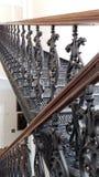 Antyczny, forged, żeliwo, rocznika schody Obraz Stock