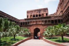 Antyczny fort w Agra, India Obrazy Stock