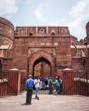 Antyczny fort w Agra, India Fotografia Stock