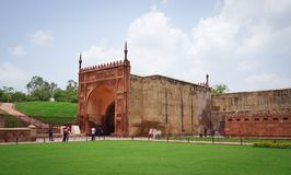 Antyczny fort w Agra, India Obraz Stock