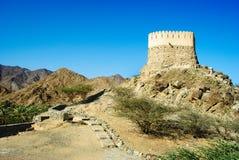 Antyczny fort w al badiyah fotografia stock