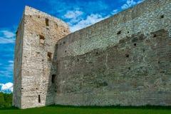 Antyczny forteca, izoluje, góruje, i ruiny Zdjęcia Royalty Free