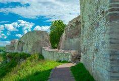 Antyczny forteca, izoluje, góruje, i ruiny Fotografia Royalty Free