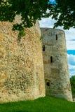 Antyczny forteca, izoluje, góruje, i ruiny Zdjęcia Stock