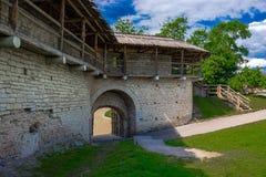 Antyczny forteca, izoluje, góruje, i ruiny Zdjęcie Stock